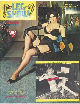 Models leg show magazine