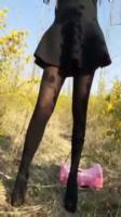 【預計4月29日21時下載地址生效】極品身材高挑長腿正妹 完美身材性感高跟美腿翹臀曲線 脱掉厚丝摸穴摆臀
