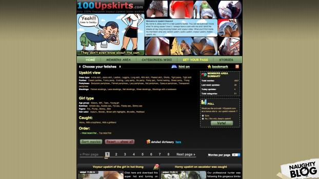 100Upskirts.com - SITERIP